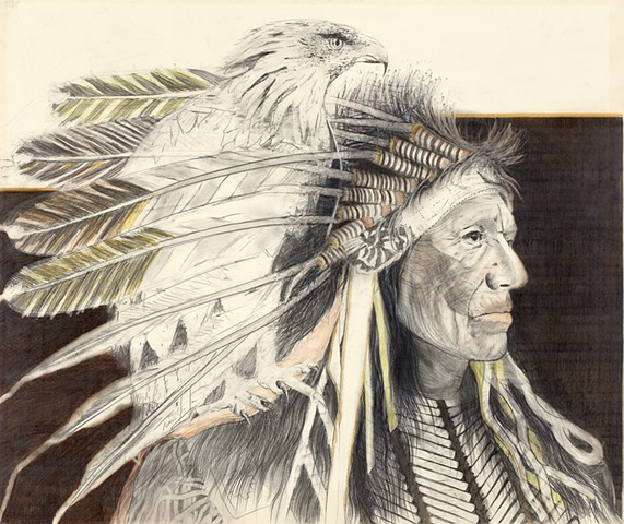 """""""Chief With Eagle"""""""