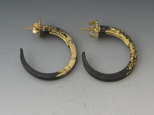 """Small Gold Dust Hoops"""