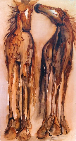 """""""Two Painted Horses"""""""