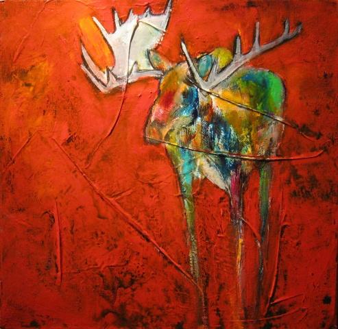 """Lone Moose"""