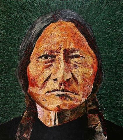 """Sitting Bull in Green"""