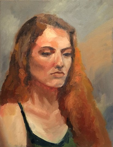 Untitled/ Oil Painting Head Study from Life