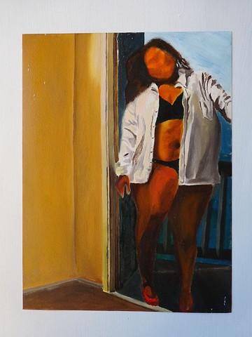 Woman in Black Underwear I
