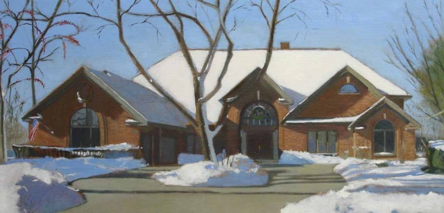 """Park Ridge House in Winter"""