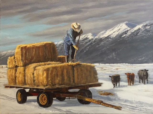 """WINTER BUFFET"" - A late winter meal is served near Bigfork, Montana."