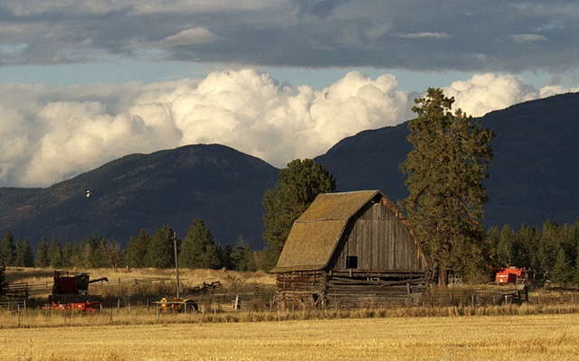 An old barn along Columbia Falls Stage Road in northwest Montana.