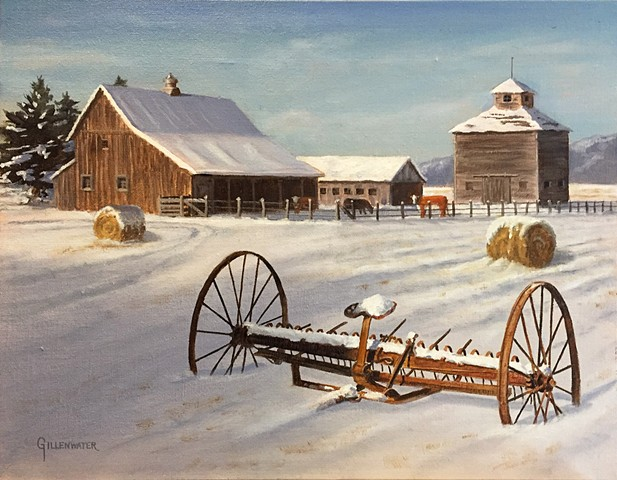 """SEASONS PAST"" - An aged hay rake speaks to seasons and technologies long past."