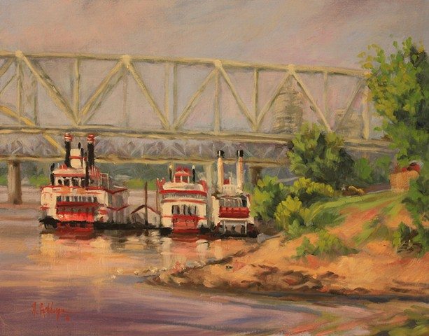 Riverboats on the Ohio River