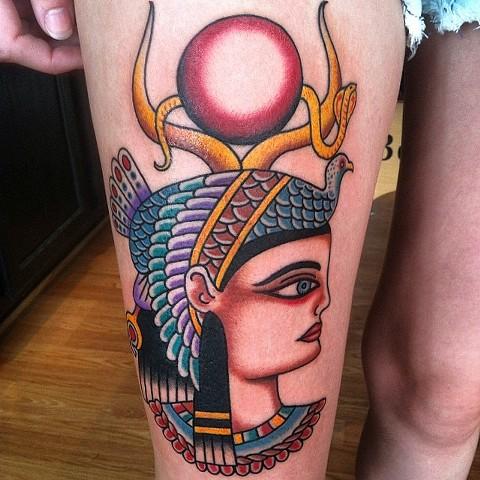 egyptian girl head