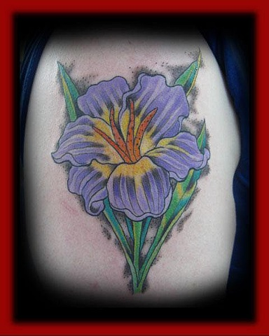 Flower/Fort City Tattoo
