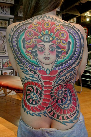 Gypsy Snake back piece