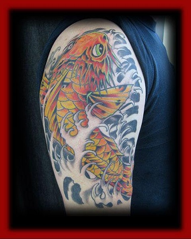 koi Fish/Fort City Tattoo
