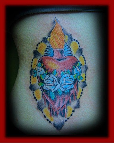 sacred heart/Fort City Tattoo