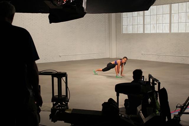 Nike women's training shoot