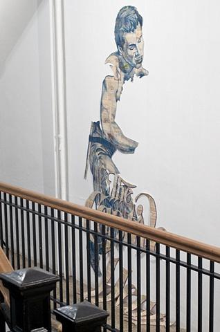 Stairwell 1 Installation: Captive Heart Boyfriend