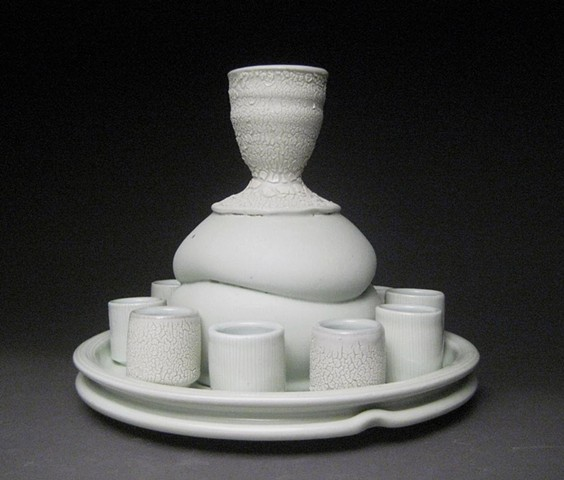 altered celadon porcelain vessels
