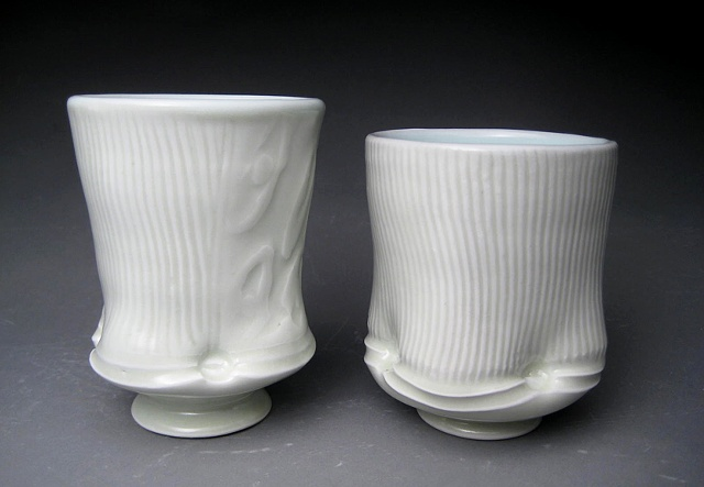 wheel thrown and altered  cups