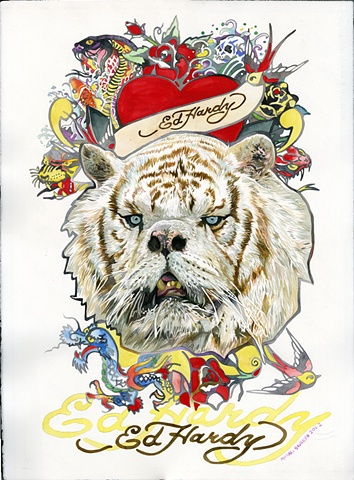 Downs Syndrome Tiger / Ed Hardy