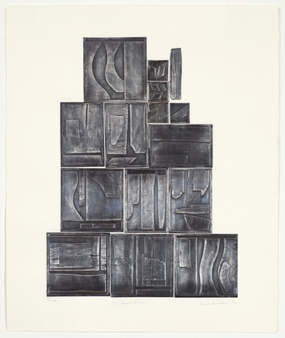 Louise Nevelson The Great Wall, Lead