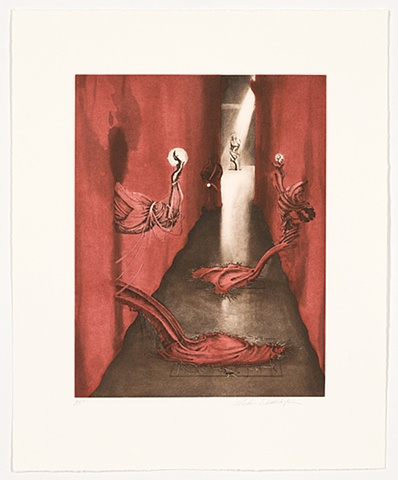 Inka Essenhigh, etching, path