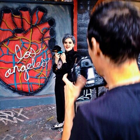 LA Map Heart (Soko being shot for Mens Italian Vogue)