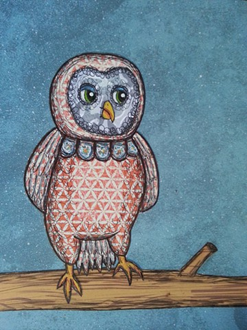 Baby Owl Commission (Rowdy)