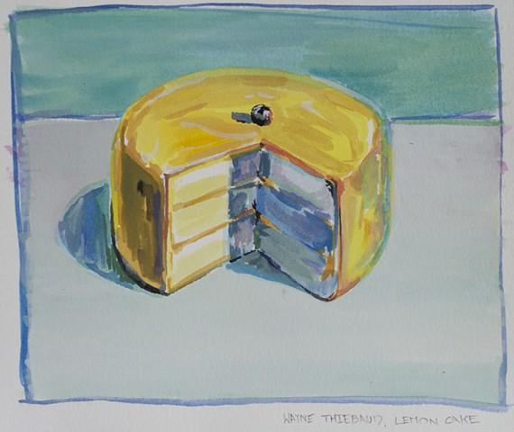 Wayne Thiebaud, Guache, Paper, Cake, Josh McCallister