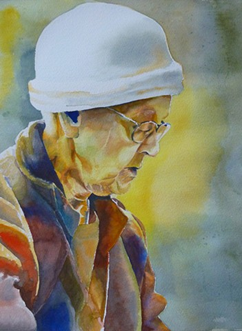 A portrait of 92 year old Dorothy. May she rest in peace.