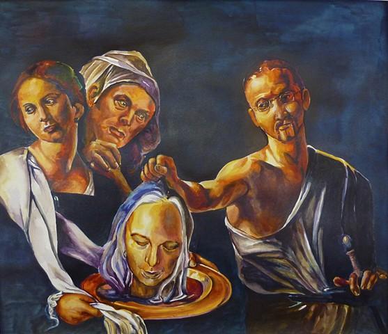 Carravaggio, beheading John the Baptist, Josh McCallister, commission