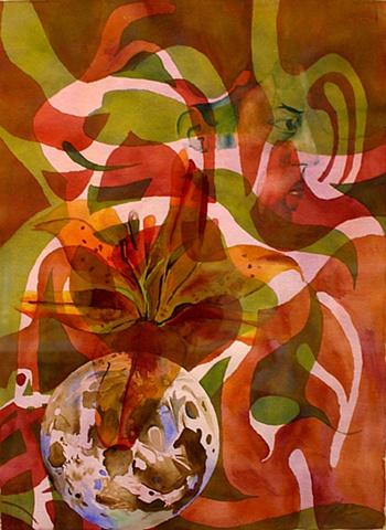 watercolor, collage, juxtapose, conceptual, Josh McCallister