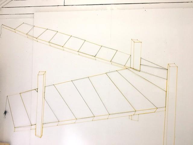 Byrdcliffe Studio (inside)  Bridge String Wall