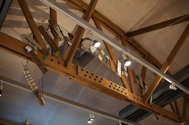 """Bridge"" ""Work Over School"" exhibition curated by jill moniz  Craft and Folk Art Museum"