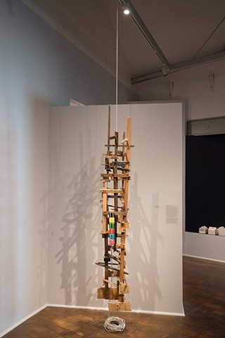 "Structure #4 installation shot ""Work Over School"" exhibition curated by jill moniz Craft And Folk Art Museum"