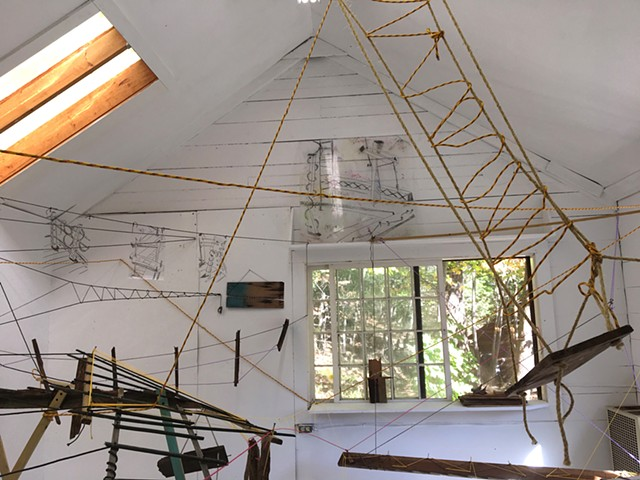 Byrdcliffe Studio (inside) Bridgework detail