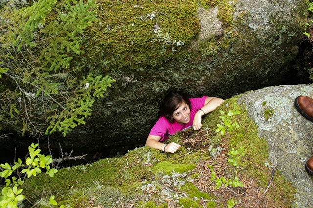 Claire in a Crevice