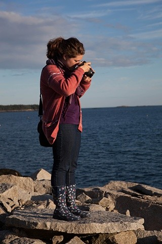April photographing on the coast of Maine. May-term