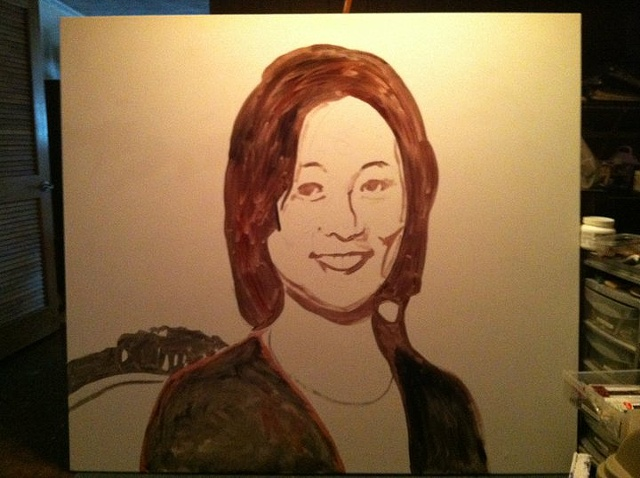 Portrait of Eleanor Kong, Step 1