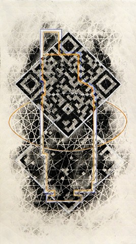 QR code mandala for Fourfold exhibition