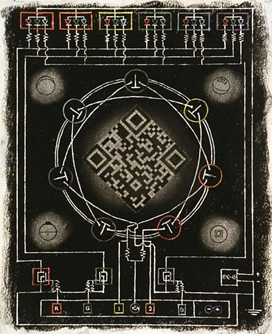 QR Code Mandala drawing for For()Loop Pushbutton Prayer Bead Installation