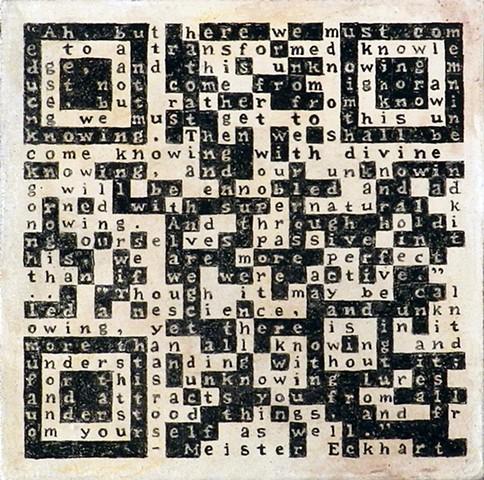 QR Code Mandala, Eric Valosin Postmodern Mysticism art