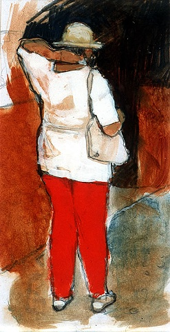 Woman with Red Pants
