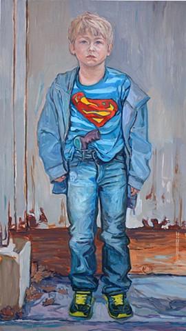Boy with Superman Shirt