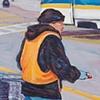 Man Pushing Carts