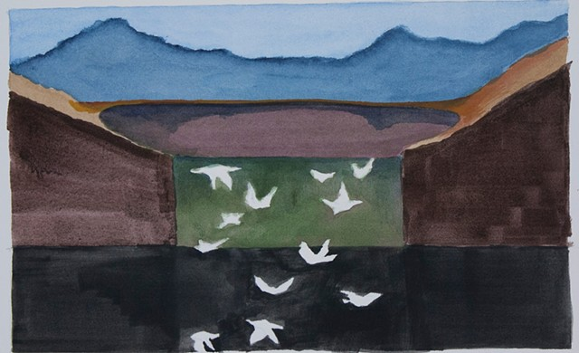 Composition Sketch 6: The Fall at Berkeley Pit