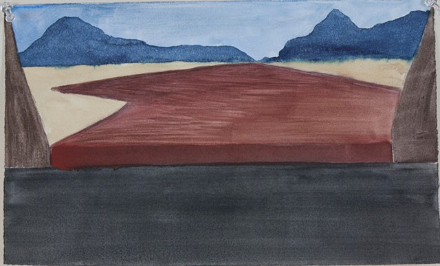 Composition Sketch 5: The Fall at Berkeley Pit