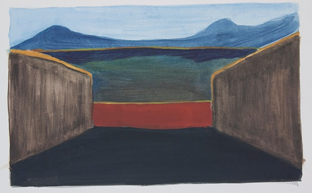 Composition Sketch 1: The Fall at Berkeley Pit