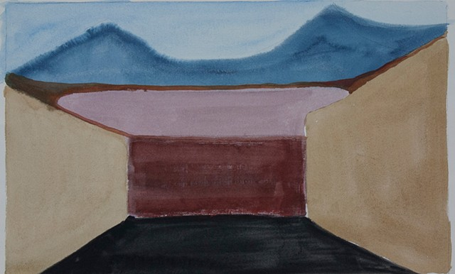 Composition Sketch 4: The Fall at Berkeley Pit