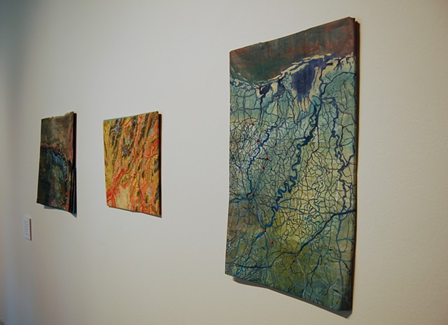 Folded Map Installation View 1