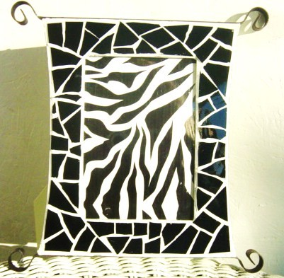 Black and White Mosaic Frame