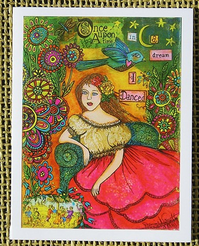Once upon a time in a Dream, I Danced Blank Art card
